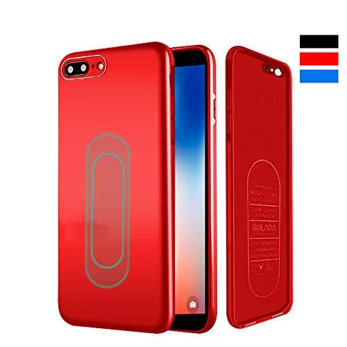 iPhone 7/8 Hülle, [für Magnetische Halterung] Ultra Dünn Soft TPU Handyhülle mit Eingebauter Metal Plate für Magnet KFZ Autohalterung,für iPhone 7/8-Rot - Iphone-halterung Magnetisches