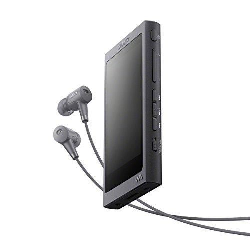 Sony NW-A45HN High Resolution Walkman MP3 Player (16 GB, Touchscreen, Digitalverstärker, Bluetooth, NFC, Hi-Res, bis zu 45 Stunden Akkulaufzeit) mit Noise Cancelling Kopfhörern, Schwarz