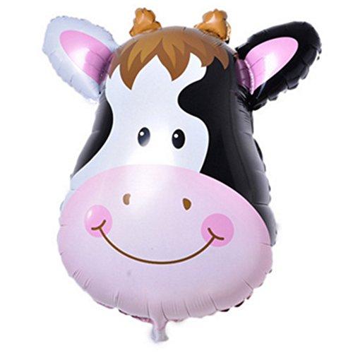 (Tierkopf Ballons, YooGer bunte Tiere wiederverwendbare Folie Ballons für Geburtstag Baby Shower Party Dekorationen Geschenk, 2 Pack (Kühe))