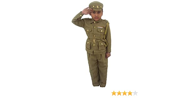 ae149f27d04e9 Buy Indian Policeman Costume for Kids Fancy Dress Competition Online at Low  Prices in India - Amazon.in