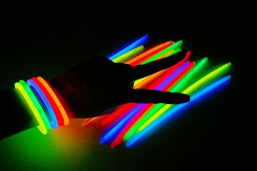 500x Knicklichter Glowsticks Leuchtstäbe 5 verschiedene Farben 5x200mm
