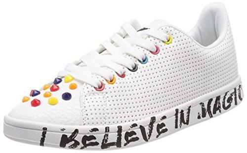 Desigual Damen Shoes_Cosmic Candy Sneaker, Weiß (1000 Blanco), 39 EU (Frühling Paparazzi)
