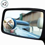 Blind Spot Mirrors - Pair of Round Adjustable - Stick-On Car - By TRIXES