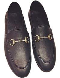 SHUQI Hebilla De Caballo Casual para Mujer Zapatos Planos Perezosos Mocasines De Cuero
