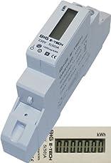 B+G E-Tech DRS155D - LCD digitaler Wechselstromzähler Stromzähler Wattmeter 5(50)A für Hutschiene mit S0 Schnittstelle 1000imp./kWh