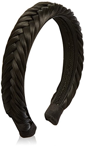 BiYa Hair Elements Hair Extensions Large Fishtail Plait Alice Band, Off Black Number 1b