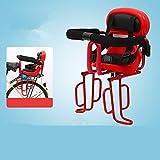 LCYCN Seggiolino Anteriore, Sella per Sedile Posteriore per Bicicletta Sedile per Sedile Posteriore, Bracciolo Staccabile per Bambini da 6 Mesi a 6 Anni,Red