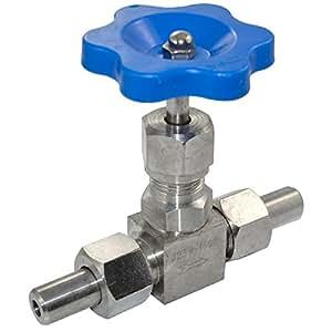 SuperWhole 3/8 DN10 acier inoxydable 304 Weld extrémités Valve à aiguille haute pression