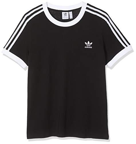 adidas Damen 3-Streifen Trainingsshirt, Black, D 34 -