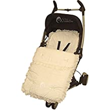 Broderie Anglaise saco/Cosy Toes Bebecar Ip-Op Grand Stylo crema