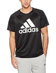 adidas D2M Logo Camiseta, Hombre, Negro, M