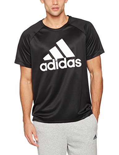 adidas Herren T-Shirt D2M Logo, Black, M, BK0937 (Adidas Langarm-polo)