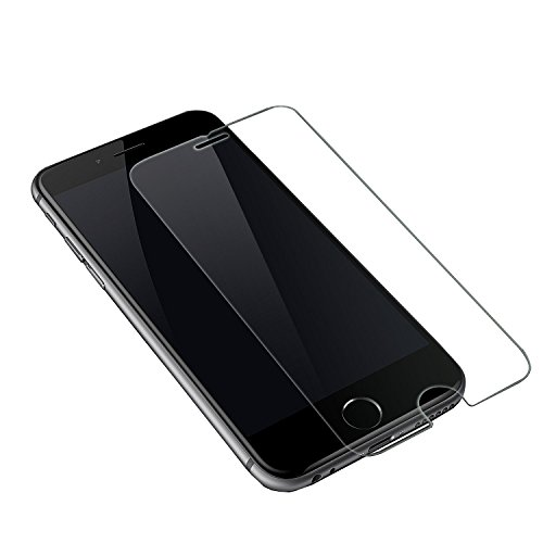Price comparison product image iPhone 6S / 6 Crystal Clear Tempered Glass Screen Protector by Deet® Anti Scratch Transparent Shatter Proof 9H Hardness Rating