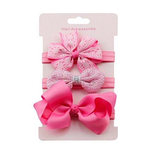 Saingace Baby-Kind-Mädchen-Prinzessin-Kristalldiamant-Stirnband-Blumen-elastisches Haar-Band (M) (Haar-band)