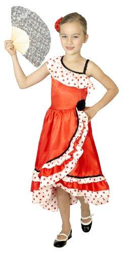 Cesar F231 Kostüm spanische Tänzerin, tailliert (Spanische Tänzerin Kostüm)