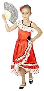 César - Disfraz de sevillana para niña, talla 5-7 años (F231-002)