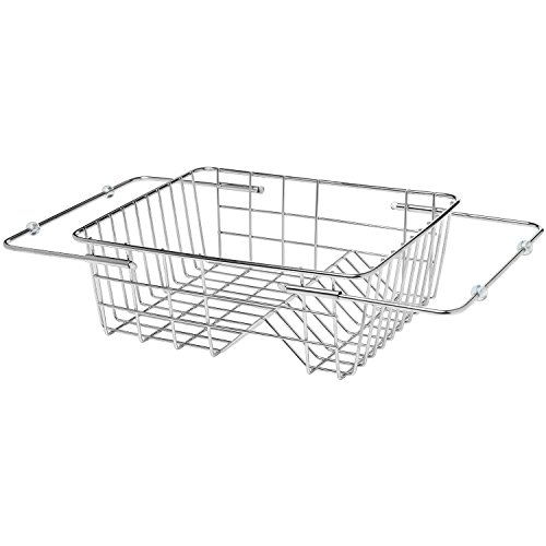 KES Adjustable In Sink Drying Rack Over Sink Dish Drainer SUS304 Stainless Steel, PDR5