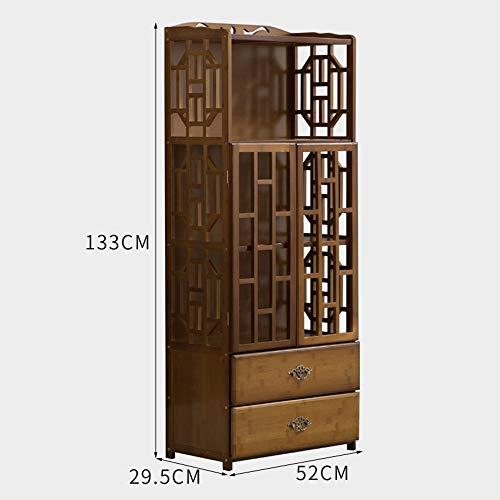 2 Schubladen Cube (Stand MEIDUO Bücherregal Regale mit 2 Schubladen und 2 Tür Moderne Holz Multipurpose Collection Display sehr langlebig (größe : 4 tier-52cm))