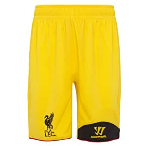 Warrior Kids Liverpool Football Club Away GK Short - Vibrant Yellow, Large