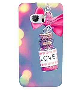 HTC 10 :: HTC One M10 love bottle, love, hanging bottle Designer Printed High Quality Smooth hard plastic Protective Mobile Case Back Pouch Cover by Paresha