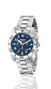 Sector - R3273603035 - Centurion - Montre Homme - Quartz Analogique - Cadran Bleu - Bracelet Acier Argent