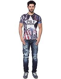 T-Shirt - U.S.A - schwarz / weiß