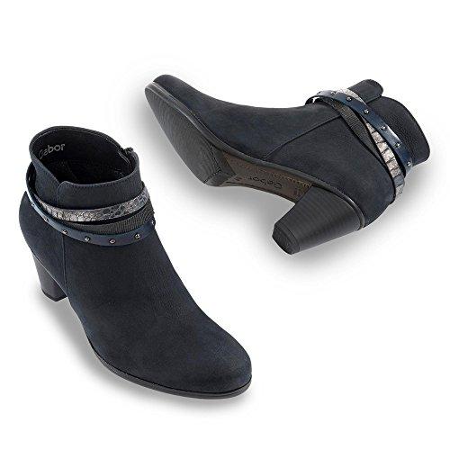Gabor Solero, Damen Kurzschaft Stiefel Blau