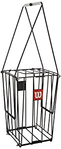 Wilson Tennis Ball Collection Basket, Ball Pick Up, 75 ball capacity, Steel, Black, WRZ323700 Review 2018
