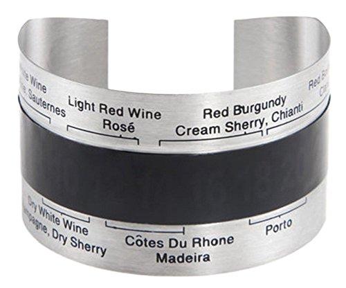 Wein-clip (BlueBeach® 2 Stück Weinthermometer Clip (4-24°C) für Wein Weinflasche Rotwein / Weißwein / Sherry / Portwein)