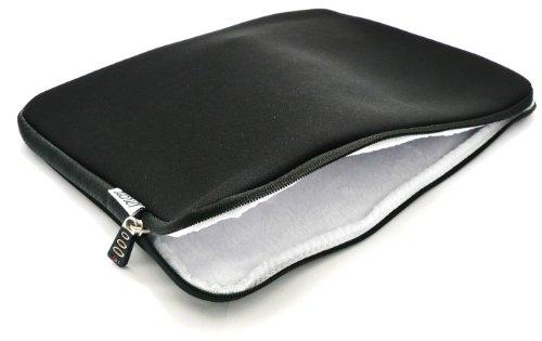 Tech21 Laptop Sleeve Schwarz Neopren weich Reiverschluss Fall Abdeckung Passend fr HKC NT14W 14 Zoll entire HD Laptop 14 15 Zoll Laptop Notebook Hllen