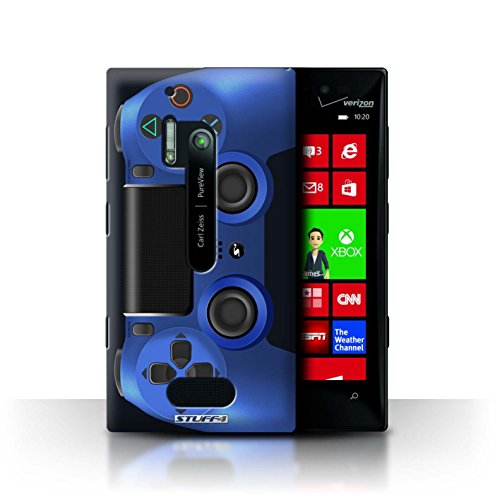 Stuff4 Hülle / Case für Nokia Lumia 928 / Blau Muster / Playstation PS4 Kollektion (Nokia Lumia 928 Case Blau)