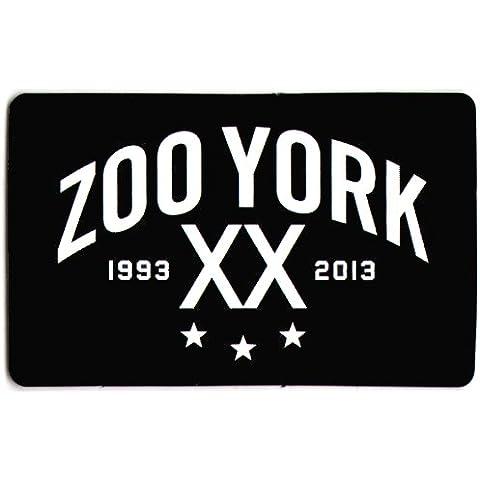 Zoo York 1993–2013–Pegatina para monopatín, patines, tabla de snowboard, bicicleta de BMX, etc., texto en inglés, color