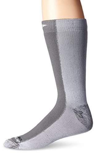 Drymax Cold Weather Run Crew Socks, Grey, Small (W5-7 / M3.5-5.5) (Drymax Sportsocken)