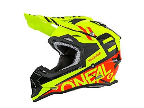 Oneal 2 Series RL Spyde - Casco de Motocross, Black Red Hi-Viz