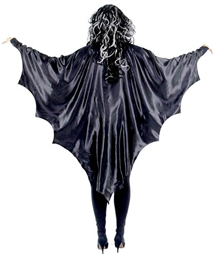 el Schwarze Vampir Fledermaus Flügel Vampirflügel Cape Umhang Halloween Horror Blutsauger ()