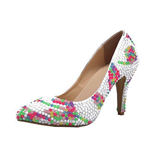 Kevin Fashion ,  Damen Durchgängies Plateau Sandalen mit Keilabsatz Mehrfarbig