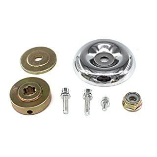 AISEN REPLACEMENT UNIVERSAL LAWNMOWER GEARBOX METAL PLATE BLADE FIXING KIT M10 X 1.25 LEFT HANDED NUT STRIMMER BRUSHCUTTER
