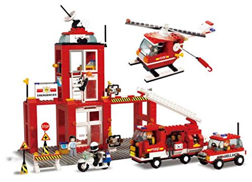 SLUBAN BRICKS, Town Estación de Bomberos Completa Juegos de construcción (AJ 1)