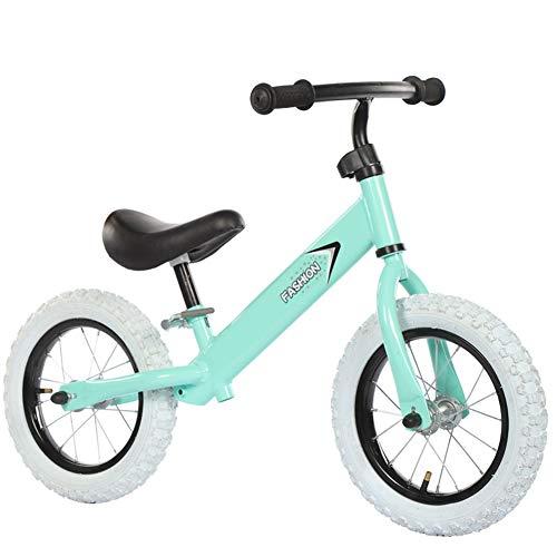 1-1 Balance Fahrrad Kinder, Lernlaufrad Lufträder Ohne Pedale Verstellbarer Leicht Balance Bikes,Green