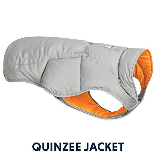 Ruffwear - Quinzee warme, leichte Isolierte Jacke für Hunde, X-Large, Cloudburst Gray - Nylon-isolierte Jacke