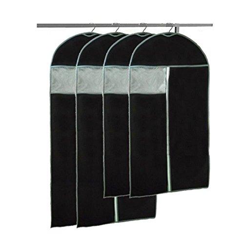 BREEZO 4X Kleidersack Kleiderschutz Anzughülle 2 von 100 x 60cm und 120 x 60cm Anzugsack...