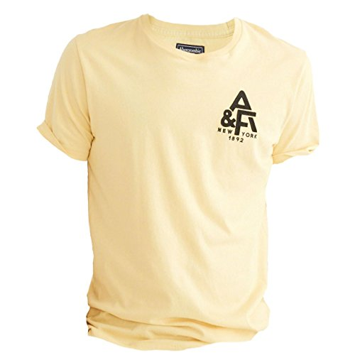 abercrombie-mens-applique-logo-graphic-tee-t-shirt-t-shirt-size-l-yellow-626065261