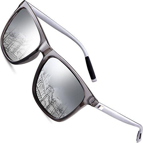 wearPro Sonnenbrille Mens Retro Vintage Polarisierte Sonnenbrille WP1003 (Silber, 2.16)