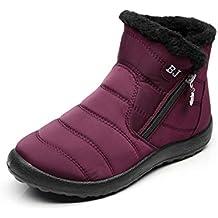 8fc93981252 Zapatos Mujer Botas de Nieve Invierno Forro Calentar Tobillo Al Aire Libre  Zapatillas Altas Outdoor Antideslizante