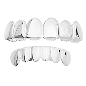 .iced-out. Grillz – Silber – *One Size fits All* – Set
