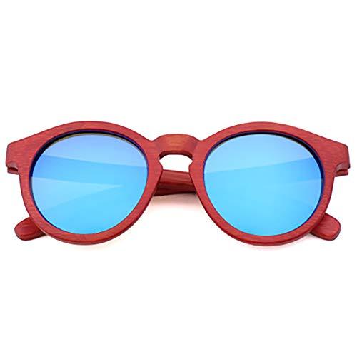 Unisex Holz/Bambus Sonnenbrille, Farbe ändern Herren Damen Polarisierte Sonnenbrille, UV-Schutz, Strahlenschutz UV400,B