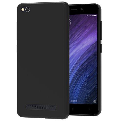 iVoler Funda Carcasa Gel Negro para Xiaomi Redmi 4A, Ultra Fina 0,33mm, Silicona TPU de Alta Resistencia y Flexibilidad