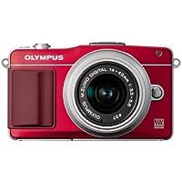 Olympus Pen E-PM2 Compact System Camera - Red (16.1 MP, M.ZUIKO Digital 14 -42mm II R Lens)