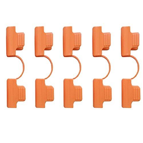 amgateeu Lot de 5 Serre à clip de serrage pour film en PVC