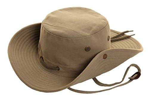 Hawkins pour homme toile marque: Aussie Bush Safari Chapeau Beige/vert pierre S M L XL Vert - Vert